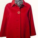Cappotto rosso, 100% lana