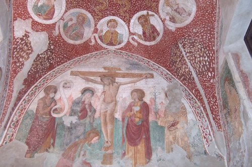 L'affresco custodito all'interno dell'Oratorio
