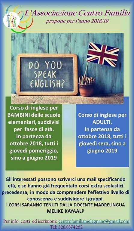 "Corsi di inglese per tutti ""Do you speak English"""