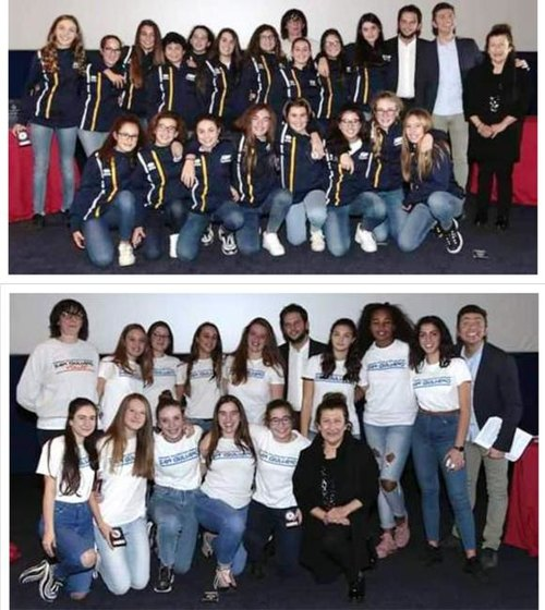 Le ragazze dell'Under 12 e dell'Under 14 premiate