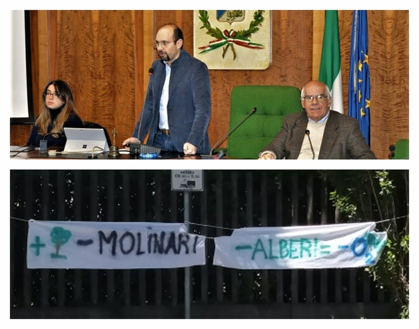 In alto in piedi Marco Righini vicesindaco con delega all'ambiente