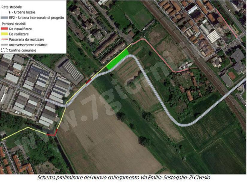 Il progetto per collegare Civesio e Sesto Ulteriano al resto di San Giuliano Milanese