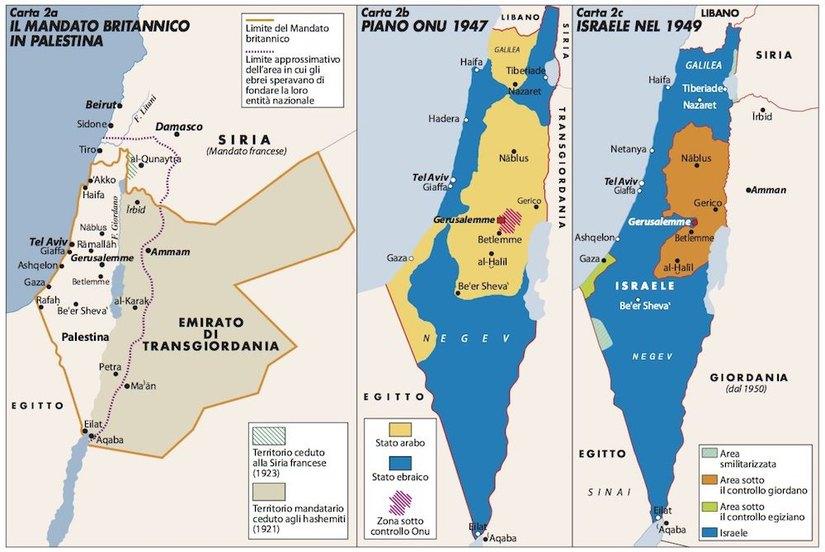 Cartina Israele Palestina.Capire Il Contesto Storico Della Questione Israelo Palestinese Per Farsi Un Idea Della Situazione Senza Le Esasperazioni Della Propaganda Attualita 7giorni
