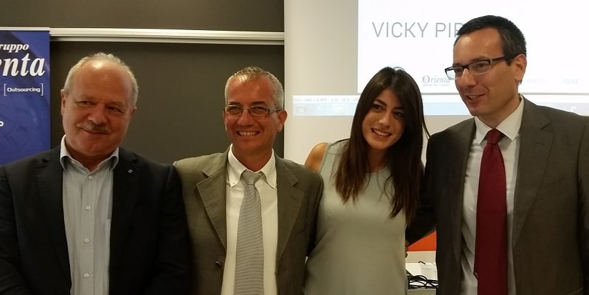 Andronaco VP Federmanager, Castelletti Presidente Federmanager Lombardia, Viky Piria, Fontana Coordinatore Giovani Federmanager